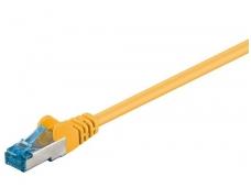 Komutacinis kabelis 15m S/FTP Cat6a Pimf, geltonas LSZH