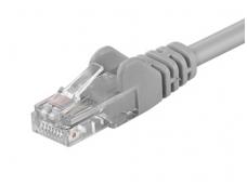 Komutacinis kabelis 1m UTP Cat5E, pilkas