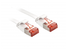 Komutacinis kabelis 2m U/FTP Cat6, plokščias, baltas