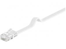 Komutacinis kabelis 2m UTP Cat6 plokščias, baltas CU