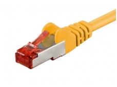 Komutacinis kabelis 3m S/FTP Cat6 Pimf, geltonas LSZH CU