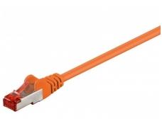 Komutacinis kabelis 5m S/FTP Cat6 Pimf, oranžinis LSZH CU