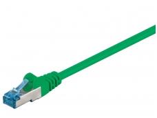 Komutacinis kabelis 7,5m S/FTP Cat6a Pimf, žalias LSZH