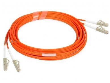 Komutacinis dviejų skaidulų kabelis LC/LC 3m 50