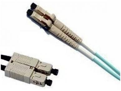 Komutacinis dviejų skaidulų kabelis SC/LC 1m 50 OM3 2
