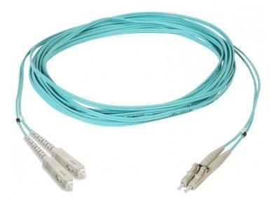 Komutacinis dviejų skaidulų kabelis SC/LC 1m 50 OM3