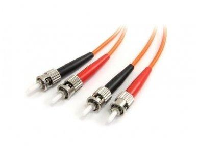 Komutacinis dviejų skaidulų kabelis ST/ST 1 m 50