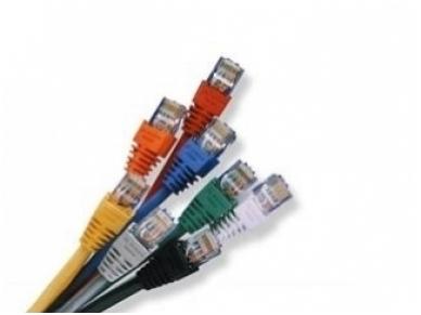 Komutacinis kab. 1.0m 5E kat. FTP geltonas, LSZH 2