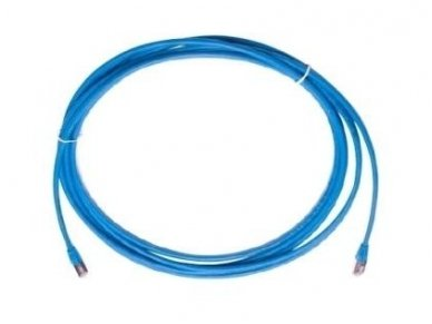 Komutacinis kab. 1.0m 5E kat. FTP mėlynas, LSZH 2