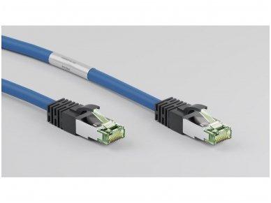 Komutacinis kabelis 0,25m S/FTP Cat8.1 Pimf, mėlynas LSZH CU 3