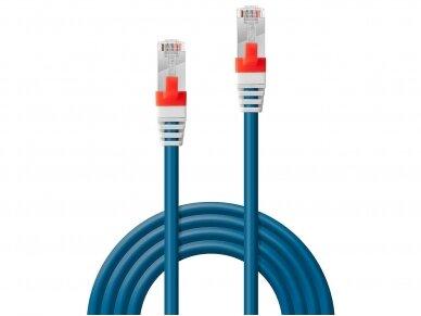 Komutacinis kabelis 0.3m S/FTP Cat6A Pimf, LSZH, mėlynas 2