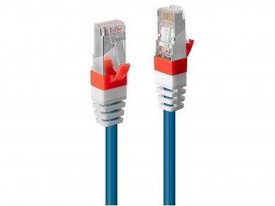 Komutacinis kabelis 0.3m S/FTP Cat6A Pimf, LSZH, mėlynas