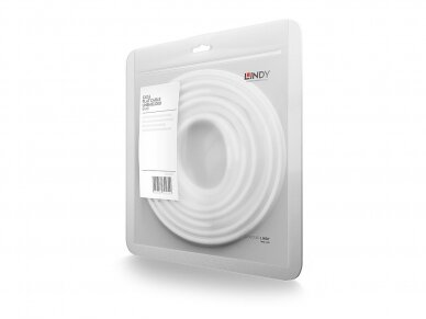 Komutacinis kabelis 0.3m U/UTP Cat6, plokščias, baltas 3