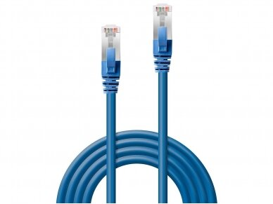 Komutacinis kabelis 0.5m S/FTP Cat6 Pimf, LSZH, mėlynas 2