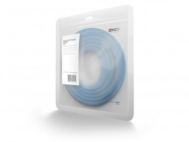 Komutacinis kabelis 0.5m S/FTP Cat6 Pimf, LSZH, mėlynas 3