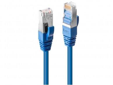 Komutacinis kabelis 0.5m S/FTP Cat6 Pimf, LSZH, mėlynas