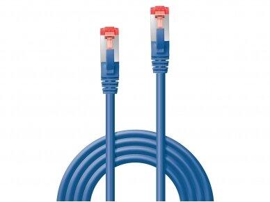 Komutacinis kabelis 0.5m S/FTP Cat6 Pimf, mėlynas 2