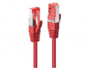 Komutacinis kabelis 0.5m S/FTP Cat6 Pimf, raudonas