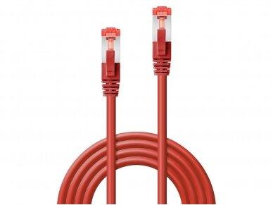 Komutacinis kabelis 0.5m S/FTP Cat6 Pimf, raudonas 2