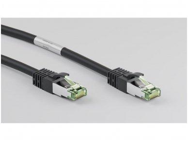 Komutacinis kabelis 0,5m S/FTP Cat8.1 Pimf, juodas LSZH CU 3