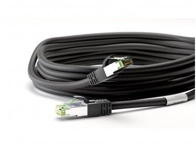 Komutacinis kabelis 0,5m S/FTP Cat8.1 Pimf, juodas LSZH CU 4