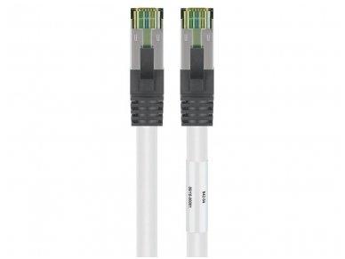 Komutacinis kabelis 10m S/FTP Cat8.1 Pimf, baltas LSZH CU