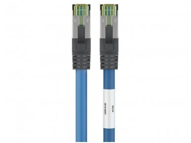 Komutacinis kabelis 15m S/FTP Cat8.1 Pimf, mėlynas LSZH CU