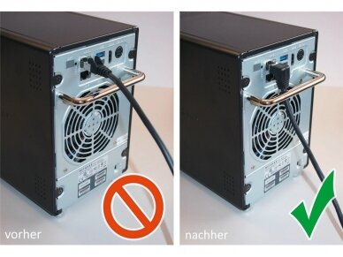 Komutacinis kabelis 1m F/UTP Cat5E, juodas kampinis-tiesus 3