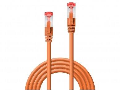 Komutacinis kabelis 1m S/FTP Cat6 Pimf, oranžinis 2