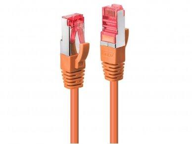 Komutacinis kabelis 1m S/FTP Cat6 Pimf, oranžinis