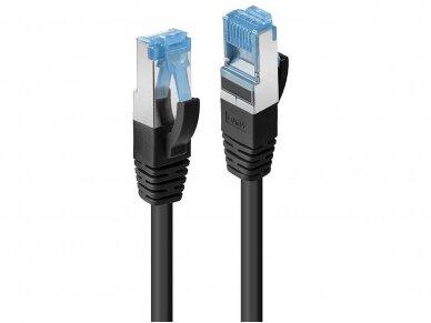 Komutacinis kabelis 1m S/FTP Cat6A Pimf, LSZH, juodas