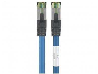 Komutacinis kabelis 1m S/FTP Cat8.1 Pimf, mėlynas LSZH CU