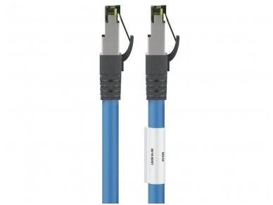 Komutacinis kabelis 1m S/FTP Cat8.1 Pimf, mėlynas LSZH CU 2