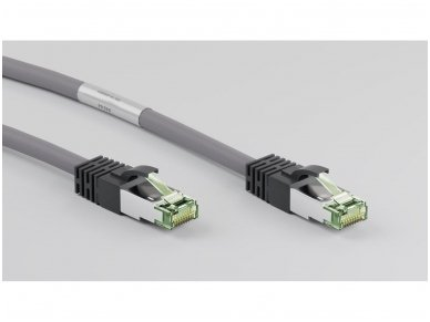 Komutacinis kabelis 1m S/FTP Cat8.1 Pimf, pilkas LSZH CU 3