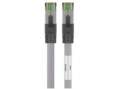 Komutacinis kabelis 1m S/FTP Cat8.1 Pimf, pilkas LSZH CU