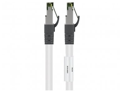 Komutacinis kabelis 25m S/FTP Cat8.1 Pimf, baltas LSZH CU 2
