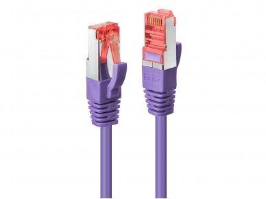 Komutacinis kabelis 2m S/FTP Cat6 Pimf, violetinis