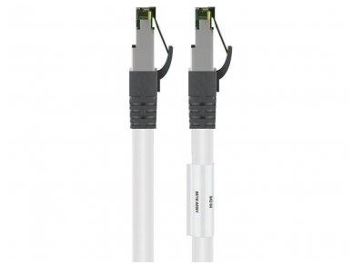 Komutacinis kabelis 2m S/FTP Cat8.1 Pimf, baltas LSZH CU 2