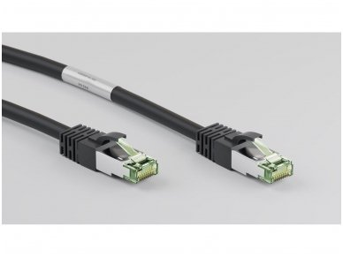 Komutacinis kabelis 2m S/FTP Cat8.1 Pimf, juodas LSZH CU 3