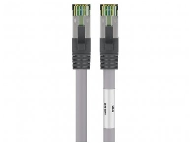 Komutacinis kabelis 2m S/FTP Cat8.1 Pimf, pilkas LSZH CU