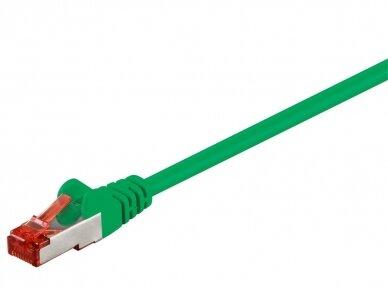 Komutacinis kabelis 3m S/FTP Cat6 Pimf, žalias
