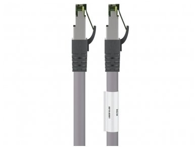 Komutacinis kabelis 3m S/FTP Cat8.1 Pimf, pilkas LSZH CU 2