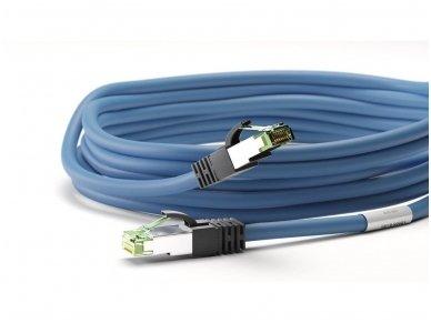 Komutacinis kabelis 7,5m S/FTP Cat8.1 Pimf, mėlynas LSZH CU 4
