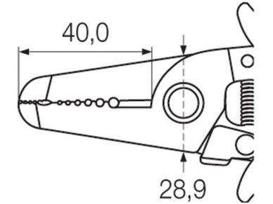 Laidų nuvalymo įrankis 10-20AWG, Wiha 3