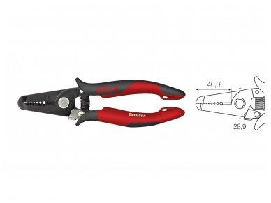 Laidų nuvalymo įrankis 10-20AWG, Wiha 2
