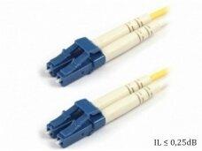 LC/LC dvigubas vienmodis komutacinis kabelis 14m