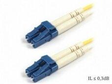 LC/LC dvigubas vienmodis komutacinis kabelis 2m S3
