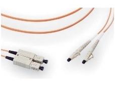 LC/SC dvigubas daugiamodis OM2 komut. kabelis 10m