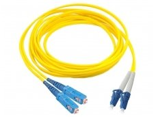 LC/SC dvigubas vienmodis komutacinis kabelis 1m