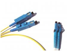 LC/SC dvigubas vienmodis komutacinis kabelis 3m